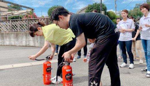 地震と火災の避難訓練‼‼